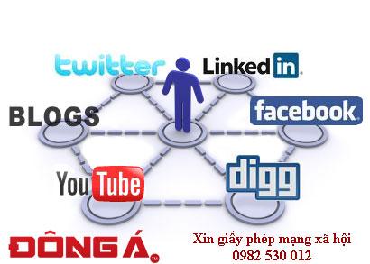 Xin cấp giấy phép Website mạng xã hội trực tuyến
