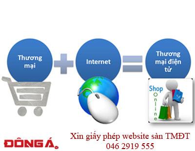 Xin giấy phép website sàn giao dịch thương mại điện tử