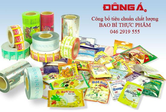Công bố tiêu chuẩn chất lượng bao bì thực phẩm