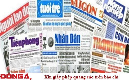 Xin giấy phép quảng cáo trên báo chí