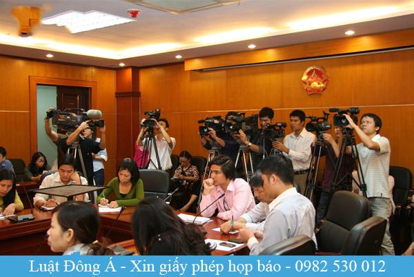 Xin giấy phép chấp thuận họp báo