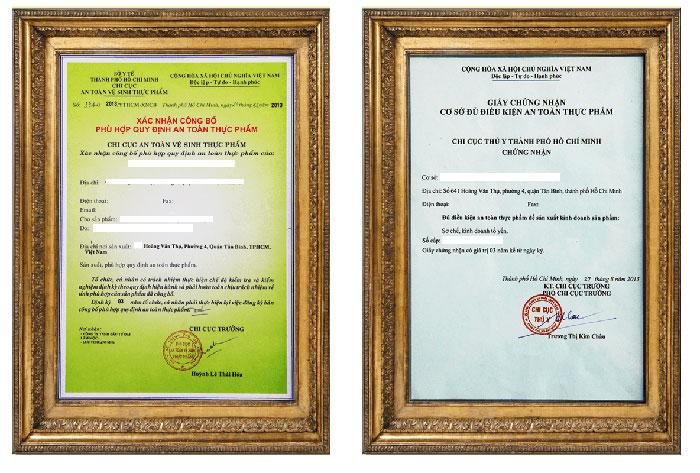 Xin giấy phép vệ sinh an toàn thực phẩm có điều kiện