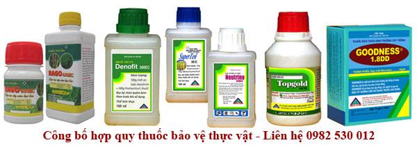 Công bố hợp quy thuốc bảo vệ thực vật