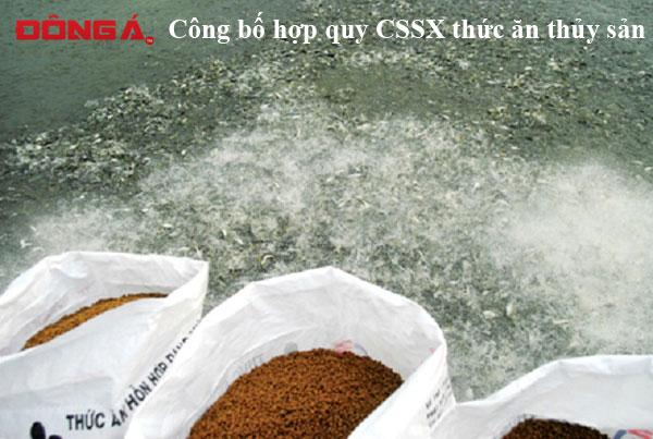 Công bố hợp quy thức ăn thủy sản