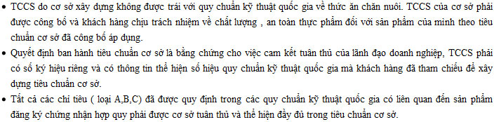 cong bo tieu chuan co so