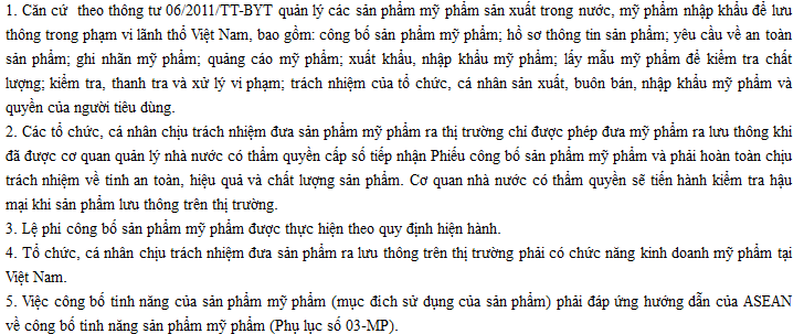 quy dinh cong bo my pham